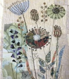 Mandy Pattullo seed head inspired class Source by benjiebunnie Free Motion Embroidery, Embroidery Applique, Embroidery Stitches, Embroidery Patterns, Machine Embroidery, Quilting Patterns, Hand Quilting, Quilting Ideas, Flower Embroidery