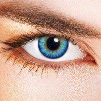 Lentilles De Contact De Couleur Triple Tone Bleu Ciel (sans correction): HAUT NIVEAU QUALITATIF : lentilles de contact colorées - produit…