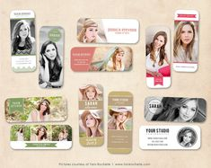 Senior Rep Card Template Photoshop Senior by MarketingMall on Etsy, $15.00