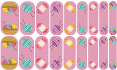 Knitting Love (many skeins) Jamberry Nail Art Studio: Do you knit up a storm? These colorful yarns are perfect for inspiring you.