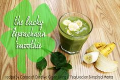 Do you have a special green breakfast on St. Patricks Day? Make St. Patricks day morning more fun and sneak some veggies in for your kids with this Lucky Leprechaun Green Smoothie recipe from Creative Green Living!