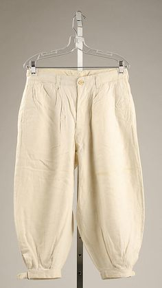 Riding Trousers (Breeches)    Date:      1900–1925 Met Museum