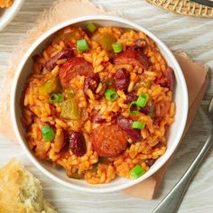 This Dutch oven red beans and rice recipe is a great one-pot meal. It's one of my husband's favorites and it uses simple ingredients, so it's been a go-to recipe in our house for years. Dutch Oven Cooking, Dutch Oven Recipes, Cajun Recipes, Bean Recipes, Sausage Recipes, Rice Recipes, Pork Recipes, Mexican Food Recipes, Dinner Recipes