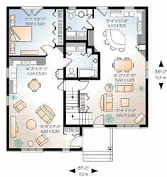 Multigenerational floor plan drummond house plan no for House plans with income suite