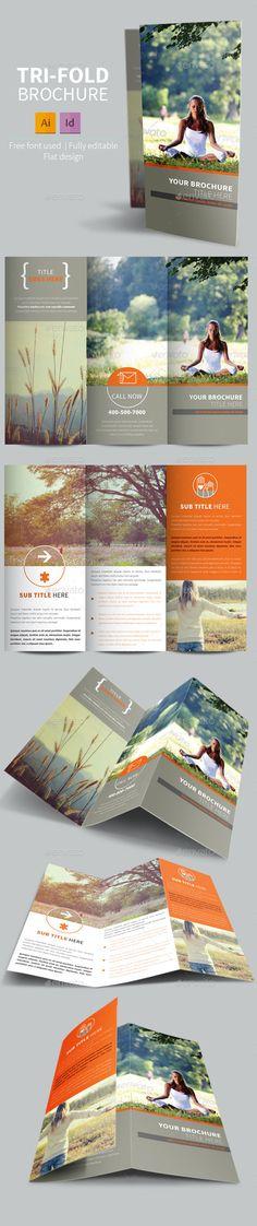 Vintage Relax Trifold Brochure #design Download: http://graphicriver.net/item/vintage-relax-trifold-brochure/11275175?ref=ksioks                                                                                                                                                                                 Más