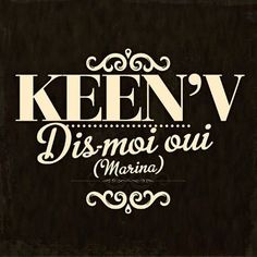 Keen' V – Télécharger Sonnerie Dis-Moi Oui (Marina) Radios, Keen V, J'ai Dit Oui, Signs, Ringtone Download, Shop Signs, Sign
