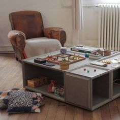 PLUS Concrete Storage Solution Can Become A Coffee Table Minimalist Design