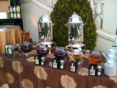 Museum-worthy glass teapots beautifully showcase our St. Regis Blend, T Blend, Harmony, Lychee Flowering Ball, and Floral Jasmine green teas.