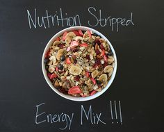 A delicious all natural, gluten free, vegan trail mix and how-to guide to make your own!