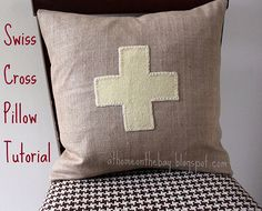 Swiss Cross pillow tutorial
