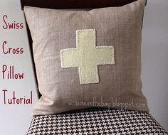 Swiss Cross pillow tutorial