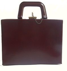 60s french beauty  vanity  case / burgundy by lesclodettes on Etsy, $69.00