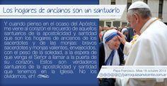 HOGARES DE ANCIANOS, VERDADEROS SANTUARIOS DE SANTIDAD! #PAPAFRANCISCO. MISA 18 DE OCTUBRE 2013. NO OLVIDEMOS A LOS SACERDOTES Y HERMANAS EN...
