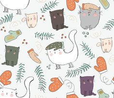 Frumpelstiltskin and the Lost Mitten fabric by sayhicaro on Spoonflower - custom fabric