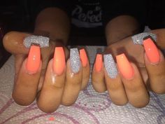 Semi-permanent varnish, false nails, patches: which manicure to choose? - My Nails Summer Acrylic Nails, Best Acrylic Nails, Summer Nails, Nail Swag, School Nails, Aycrlic Nails, Glitter Nails, Fire Nails, Orange Nails