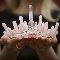 A gorgeous raw crystal quartz crown inspired by Game of Thrones. Wear for your…