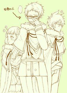 Mimoxa Vermillion, Claus Lyunette and Yuno.