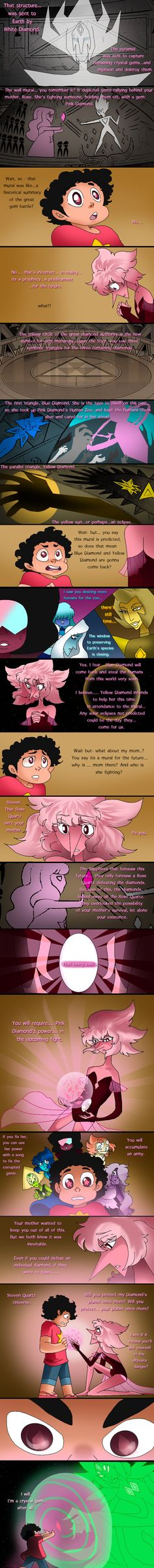Next~ Oh Hey look what I got around to coloring a continuation of this comic: and a few theories: Pink Pearl / Lion, Pink Diamond, and Rose Quartz (C) Steven Universe&...