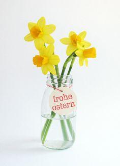 """Geschenkanhänger-Set """"Frohe Ostern"""" von mimifaktur auf DaWanda.com"""
