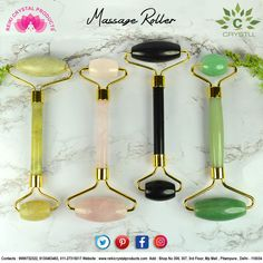 Crystal Facial Massage Roller - Reiki Crystal Products Feng Shui Items, Color Meanings, Massage Roller, Facial Massage, Green Aventurine, Stones And Crystals, Reiki, Wands, Products