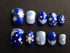 """Winter Wonderland"" By, Sonja for SNAP-ON NAILS ( All Proceeds Benefit Cervical Caner)"
