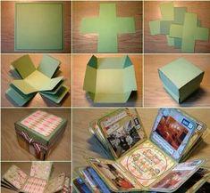 Foto album in een doosje