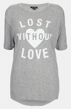 Topshop 'Lost Without Love' Oversized Tee available at #Nordstrom