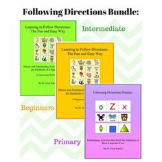 This amazing following directions bundle offers three of Dr. Warren's popular following directions activities that can be printed on completed on an ipad/computer. #followingdirections Dyslexia Activities, Speech Activities, Following Directions, Learning Process, Reading Skills, Critical Thinking, Thinking Skills, Learn To Read, Teacher Resources