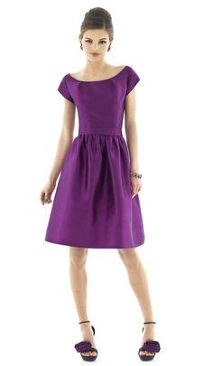 Alfred Sung D550 Cap Sleeve Short Dress |