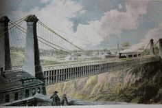 MAR. 8, 1855: A  train crossed a railroad suspension bridge  for the first time.   The bridge was the NIagra Falls Railway Suspension Bridge.    image:  The Worlds First Railway Suspension Bridge was built in Niagara Falls | Niagara Falls Tourism
