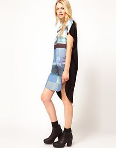 ASOS T-shirt Dress + love the boots!
