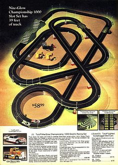 tyco slot car racing set someone gave my brother a used racing track when we were kids he i still recall the glow in the dark