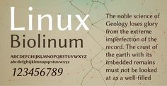 Linux Biolinum 100 Greatest Free Fonts Collection for 2013 - Awwwards - typefaces, webfonts, free fonts