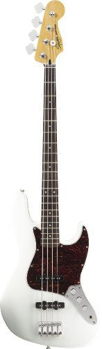 Squier by Fender Vintage Modified Jazz Bass, Olympic White -- Visit the image link more details.