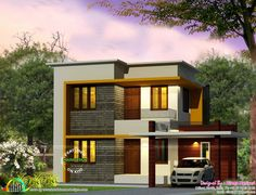 Modern Four Bedroom House Plans Elegant Cute 4 Bedroom Modern House 1670 Sq Ft Kerala Home Four Bedroom House Plans, 4 Bedroom House Designs, Garage House Plans, Dream House Plans, Small House Plans, Design Bedroom, Small House Design, Modern House Design, House Exchange