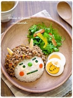by Mai's smile kitchen Bento Recipes, Baby Food Recipes, Cooking Recipes, Healthy Recipes, Cute Food, Good Food, Yummy Food, Japanese Food Art, Kawaii Cooking