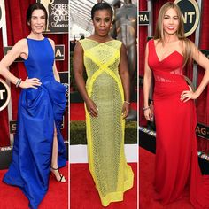 A Rainbow of Dresses Took Over the 2015 SAG Awards | InStyle