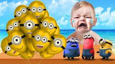 Learn Colors with Despicable me 3 Minion Balloons - Learn Colors with Mo...