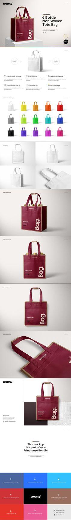 6 Bottle Non Woven Tote Bag Mockups #MockupTemplates #customizable #amazon #template #promotional #highquality #psd #dressing #overlaytext #creatsy #stationery #mockupbundle #reusable #scenecreator #weddingsavethedate #mockups #girls #custom #bundle