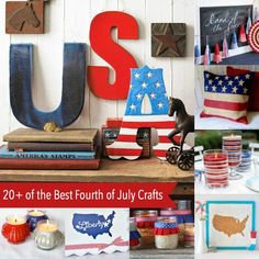 If you're looking for the ultimate home decor for Independence Day, you'll love this collection of the best fourth of July crafts on the internet!