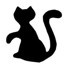 Black cat - fastelavnskat Black Cats, Holidays And Events, Symbols, Letters, Night, Crafts, Art, Manualidades, Letter