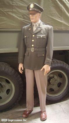us army officer's uniform ww2 tunic - Google Search
