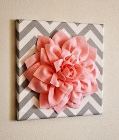 Canvas, fabric, flower #homedecor