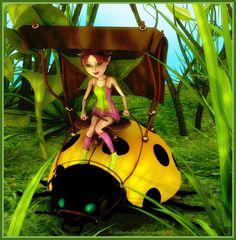 LadyBug Ride by FragmentedFortunes DAZ|Studio Faeries