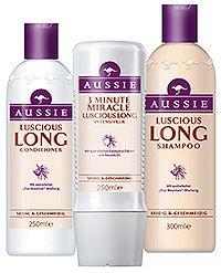 Aussie – die erfolgreiche Haarpflege-Marke kommt endlich auch nach Deutschland! Aussie wird – mit seiner etwas anderen Art, Frauen den Kopf zu waschen und zu pflegen – für Aufsehen und Hinsehen sorgen. Denn egal ob traurig-trockenes, strapaziert-coloriertes, unglücklich-schlaffes, unartig-krauses oder angestrengt-langes Haar, auf sie alle warten 14 unterschiedliche Produkte (fünf Shampoos, fünf Conditioner und vier Intensivkuren) mit bisher noch nie da gewesenen Zutaten.