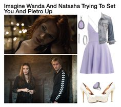 """Imagine Wanda And Natasha Trying To Set You And Pietro Up"" by alyssaclair-winchester ❤ liked on Polyvore featuring SCARLETT, AX Paris, maurices, Genevieve & Grace and Cole Haan"