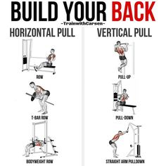 Top 10 The Best Muscle-Building Back Exercises! Back Workout Men, Gym Workout Tips, No Equipment Workout, Workout Videos, At Home Workouts, Workout Quotes, Cable Workout, Workout Routines, Ace Fitness