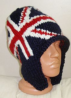 66a7615b99d23 Britain Flag Hat Man Winter Hand Knit Knitted Red White Blue Hats Britain  Gifts for Men Valentines Day Gift For Him. Loredana Manuela · Union Jack