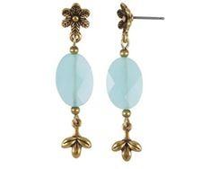 Earrings - Turquoise/ light blue - Gold - Hultquist Copenhagen