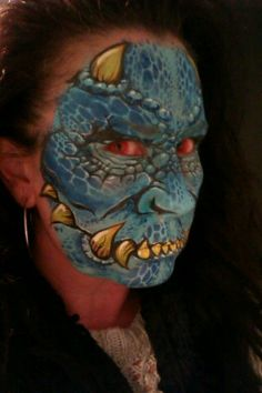 monster face paint, by Lorraine Horswell